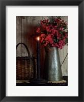 Framed Basket and Blossoms