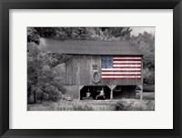 Framed Patriotic Farm I