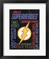 Framed Virtues of Superheroes I