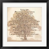 Framed Living Life - Tree Silhouette