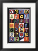 Framed Superhero Alphabet