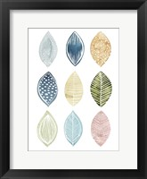 Framed Patterned Leaves I