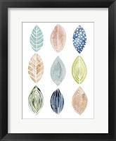 Patterned Leaves II Framed Print