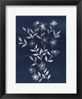 Framed Flower Cyanotype I