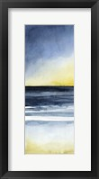 Framed Layered Sunset Triptych I