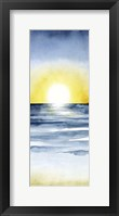 Framed Layered Sunset Triptych II