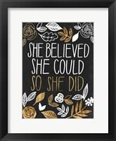 Girl Power III Framed Print