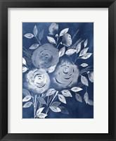 Framed Cyanotype Roses I