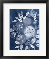 Cyanotype Roses II Framed Print