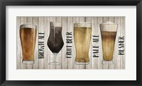Framed Beer Chart I