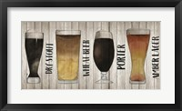 Framed Beer Chart II