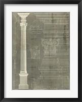 Column Blueprint I Framed Print