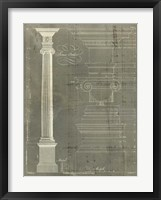 Column Blueprint II Framed Print