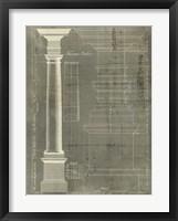 Column Blueprint III Framed Print