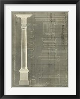 Column Blueprint IV Framed Print