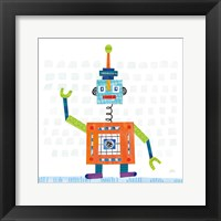 Framed Robot Party III on Squares
