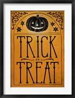 Framed Vintage Halloween Trick or Treat