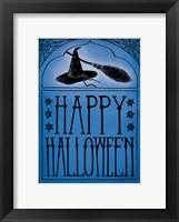Framed Vintage Halloween Happy Halloween