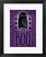 Framed Vintage Halloween Boo