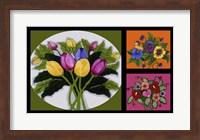 Framed Flower Collage
