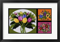 Framed Flower Collage