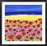 Framed Poppies by the Beach
