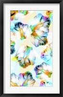 Framed Psycho Orchids Cyan