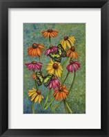 Framed Monarchs & Sunflowers