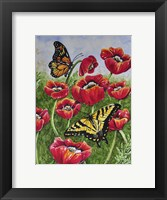 Framed Monarch and Swallowtail