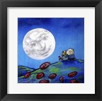 Framed Moon Gazing Together