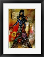 Framed Patchwork Girl II