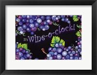 Framed Wine O'Clock Grapes