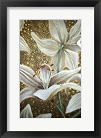 Framed Lilies On Parade