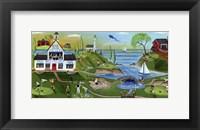 Framed Golf Club Folk Art