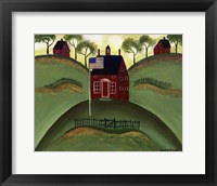 Framed Red School House Barn