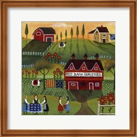 Framed Red Barn Quilters