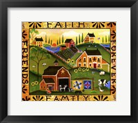 Framed Faith Family Friends Forever