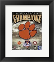Framed Clemson Tigers 2016 National Champions Team Logo