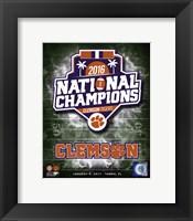 Framed Clemson Tigers 2016 National Champions Logo