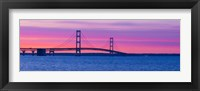 Framed Mackinac Bridge at Sunset, Michigan