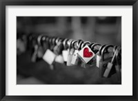 Framed Pop of Color A Locks of Love to Go Around