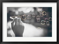 Framed Pop of Color Rainbow Love Bubbles
