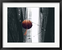 Framed Pop of Color Orange Lantern