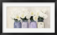 Framed Tulips in Mason Jars (detail)