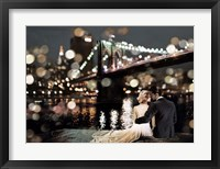 Framed Kissing in a NY Night