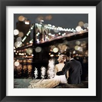 Framed Kissing in a NY Night (detail)