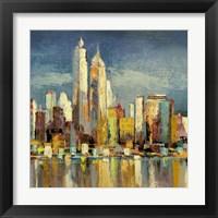Framed Manhattan Aqua (detail)