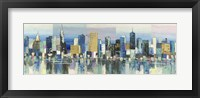 Framed Manhattan Aqua
