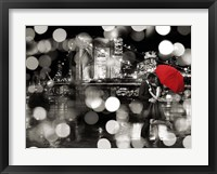 Framed Kiss in the Night (BW)