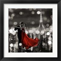 Framed Midnight in Paris (BW)